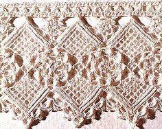crochet edge - beautiful pattern and color Filet Crochet, Crochet Lace Edging, Crochet Borders, Freeform Crochet, Crochet Chart, Thread Crochet, Crochet Trim, Irish Crochet, Crochet Doilies