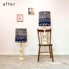 Thrift Store Lamps After a Makeover.  From Design Sponge