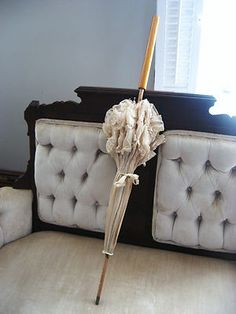 Lovely ruffled antique parasol from the collection of author/historian Victoriana Lady Lisa