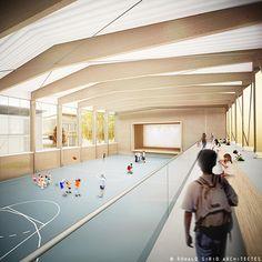 gallery of guingamp agence d 39 architecture robert et sur 7 complexo esportivo centros. Black Bedroom Furniture Sets. Home Design Ideas