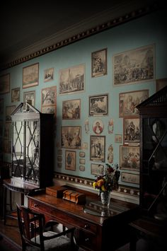 The Caricature Room, Calke Abbey, Derbyshire.