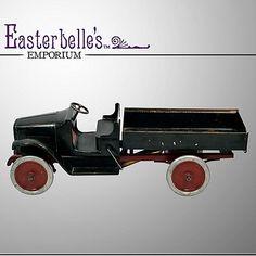 "1920's Very Rare 25"" Buddy ""L"" Hydraulic Model 201-A Pressed Steel Dump Truck"