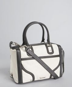 667902d50af6 My Style Handbags · Rebecca Minkoff white and black leather  Mab Mini  Bombe  satchel write a reviewq amp