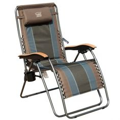 Timber Ridge Zero Gravity Locking Patio Outdoor Lounger Chair Oversize XL Padded Adjustable Recliner with Headrest Support Earth patiofurnitureset - Camping Chair - Ideas of Camping Chair