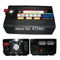 250.26$  Buy here - http://alieti.worldwells.pw/go.php?t=32736330354 - New Arrival  DC 12V To AC 220V Car Inverter with UPS Charger Can Charge The Battery 3000W UPS Inverter 6000W Peak 250.26$