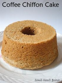 Small Small Baker: Coffee Chiffon Cake