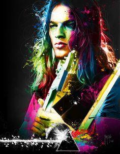""" David Gilmour "" ( Pink Floyd )"