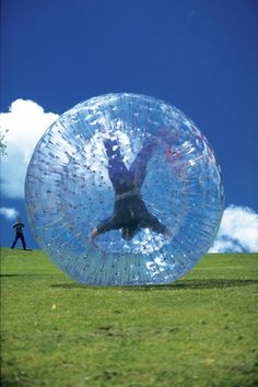 Zorbing - Can't wait for our team building day. Lol.