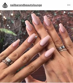48 Matte Coffin Nails Designs For 2019 coffin nails matte Simple Acrylic Nails, Best Acrylic Nails, Summer Acrylic Nails, Wedding Acrylic Nails, Acrylic Nail Designs, Summer Nails, Aycrlic Nails, Nude Nails, Pink Nails