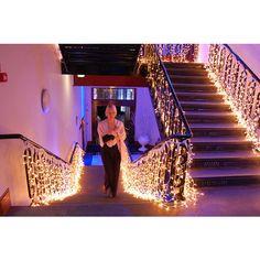 Wedding Lighting | Venue Lighting | Ceiling Drapes | Fairy Light Canopy | Fairy Lights found on Polyvore
