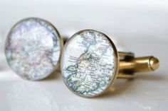 Items similar to Custom Vintage Map Cufflinks - antique bronze gold - choose one or two locations for your wedding day, anniversary or engagement on Etsy Great Wedding Gifts, Wedding Day, Map Wedding, Nautical Wedding, Wedding Blog, Wedding Stuff, Blue And Copper, Jewelry Design, Unique Jewelry