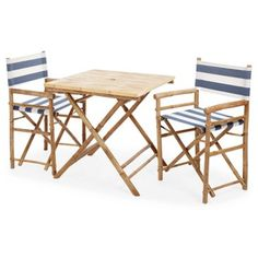 Check out this item at One Kings Lane! Outdoor Square Dining Set, Navy/White
