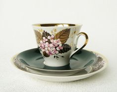 Vintage Thin Porcelain Espresso/ Coffee Cup Saucer