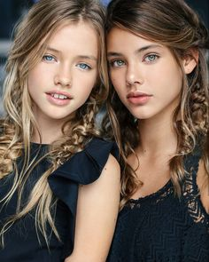 Laneya Grace & some other pretty girl, Laura Neimas. Laura is of Spanish/Polish ancestry. A well know model, of Saint Claire children's Fashions! Beautiful Little Girls, Beautiful Children, Beautiful Eyes, Beautiful People, Teen Models, Young Models, Child Models, Cute Young Girl, Cute Girls