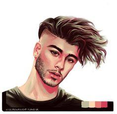 Hairstyles For Men ( Zayn Malik Tattoos, Desenhos One Direction, Beard Styles, Hair Styles, Zayn Mallik, Eyebrow Grooming, Beard No Mustache, Tattoo Sketches, I Like You