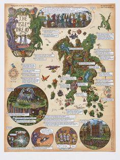 Isle of Dread Walkthrough Map Print (pre-order)