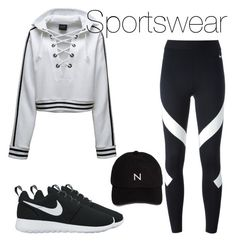 A fashion look from September 2016 featuring long-sleeve shirt, NIKE and lightweight shoes. Browse and shop related looks. Summer School Outfits, Trendy Fall Outfits, Sporty Outfits, Girl Fashion, Fashion Outfits, Womens Workout Outfits, Sportswear, Nike, Polyvore