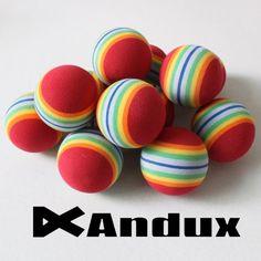 Andux 12 Golf Rainbow Practice Balls Red - http://golf-stuff.org/andux-12-golf-rainbow-practice-balls-red/