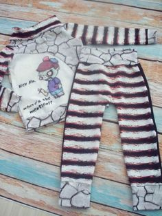 3/4t Toddler Zombie cowl  hoodie and pants by FourLittleBirdsCo