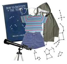 """star gazer"" by parenchymas ❤ liked on Polyvore featuring Celestron and Spitfire"