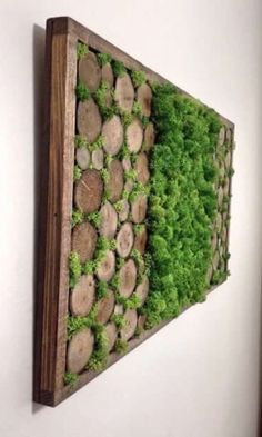 Preserved Moss Wall Art - Mothers Day - Nature Wall Art - Moss Art Painting - Rustic Home Decor - Preserved Living Wall - Vertical Garden by TheNorthSides on Etsy - Salvabrani Moss Wall Art, Moss Art, Diy Wall Art, Garden Wall Art, Diy Garden, Home And Garden, Garden Ideas, Garden Walls, Wall Garden Indoor