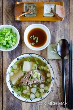 Galbitang made in Instant Pot in 30 min! It is just as delicious as cooking for hours on the stove. Great hearty and tummy warming Korean Short Rib Soup. via @kimchimari