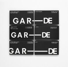 Graphic Design for GAR-DE by Paul Boudens