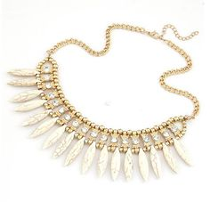 Fashion Women Crystal Pendant Chain Choker Chunky Statement Bib Necklace BOHO-in Chain Necklaces from Jewelry & Accessories on Aliexpress.com | Alibaba Group