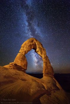 Space And Astronomy Delicate Arch and the Milky Way, by Royce Bair - Nocturne, Delicate Arch, William Waterhouse, Fourth World, Space Facts, Space And Astronomy, My Favorite Image, Cellphone Wallpaper, Light Painting