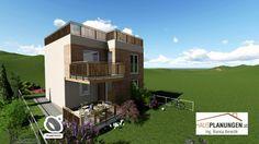 Zubau Kleingartenwohnhaus Fides 30 auf 45 m² Mansions, House Styles, Home Decor, Flat Roof, Homes, Lawn And Garden, Ideas, Decoration Home, Manor Houses