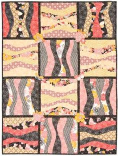 GIANT RAIL WAVES QUILT PATTERN