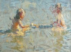 """At Play"" by James Richards Oil ~ 40 x 30"