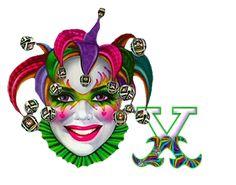 Alfabeto de arlequín con cascabeles para Carnaval. | Oh my Alfabetos!