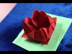 Origami Napkin Flower Fiore Rose Ninfea - YouTube