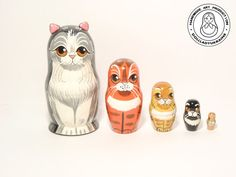Hey, I found this really awesome Etsy listing at https://www.etsy.com/listing/251699194/nesting-dolls-happy-cat-family-5pcs