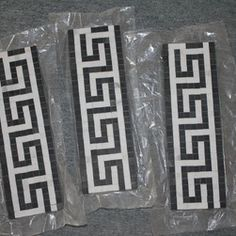 Shop Greek Key Mosaic Border Products on Houzz Greek Key, Houzz, Mosaic, Google Search, Shop, Products, Mosaics, Beauty Products, Tile Mosaics