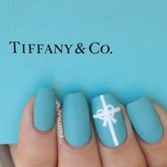 Tiffany Blue Nails. #Tiffany&Co
