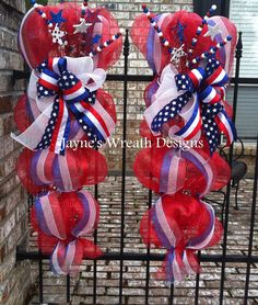 Red, White, and Blue door swags