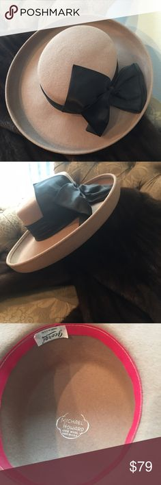 Georgi 100% wool designer hat by Michael Howard Beautiful camel colored 100% wool hat made in the USA. This hat will look absolutely exquisite with your fur or with your cashmere jacket or just with your business suit. Accessories Hats