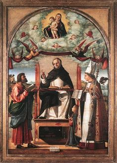 1507 St. Thomas in Glory between St. Mark and St. Louis of Toulouse - Vittore Carpaccio
