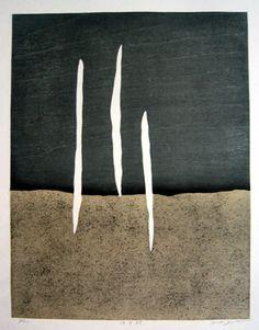 GOTOH,Hidehiko[Fine holizontal line] Japanese Art Modern, Japanese Artists, Contemporary Printmaking, Surrealism Painting, 2d Art, Wall Art Designs, Minimalist Art, Hand Painting Art, Asian Art