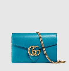 Gucci - GG Marmont Leather Chain Wallet 401232A7M0T6339