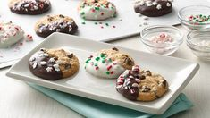 Dip into fun! Rock the Christmas cookie plate with your kids, thanks to Betty Crocker's easy cookie mixes, your head start to homemade. Betty tip: Pour melted chips into small, resealable, plastic food-storage bag. Cut off tiny corner from one end of bag and squeeze to drizzle chocolate onto cookies.