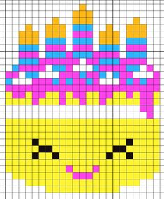 """Perler Beads - Shopkins """"Wishes"""" (Couldn't find a pattern online, so made my own!)"""