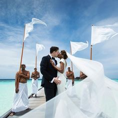 Amazing interracial couple wedding photography in the Maldives #love #wmbw #bwwm #swirl