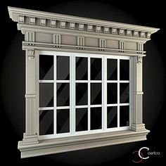 Buy Windows Collection by ThemeREX on Bundle of high quality polygonal models of windows.max Max 2010 for separate models) . Door And Window Design, Main Door Design, House Front Design, Exterior Trim, Exterior Design, Architecture Windows, Fachada Colonial, House 3d Model, Classic Window