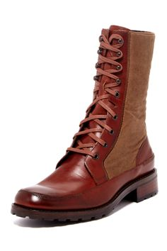 """1000 Mile Russell Field Boot in tan by Wolverine  $320 - ($139) $130 @HauteLook. - Round toe - Lace-up vamp - Leather and textile contrast upper - Approx. 9"""" shaft height, 11"""" opening circumference - Leather and manmade upper, manmade sole"""