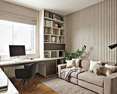 home office idea. built in desk. pull out couch for guest. like color scheme too home office idea. built in desk. pull out couch for guest. like color scheme too – Home Office Space, Home Office Desks, Mens Room Decor, Home Decor, Study Room Furniture, Study Room Decor, Study Rooms, Study Space, Guest Bedroom Office