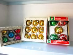 Vintage baubles, christmas, vintage, 3 boxes of retro baubles, christmas tree decorations, multi coloured baubles, Christmas Decor. by thevintagemagpie01 on Etsy Christmas Baubles, Christmas Tree Decorations, Vintage Christmas, Magpie, Cottage Chic, Boxes, Ornaments, Retro, Color