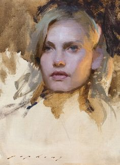 Chelsy—portrait 12x9 by Jeremy Lipking